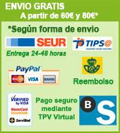 Envio gratis a toda España con pedidos superiores a 70 Euros